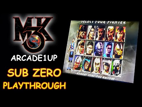 MORTAL KOMBAT 3 ARCADE1UP - SUB ZERO PLAYTHROUGH + ENDING // Lets play from JDCgaming