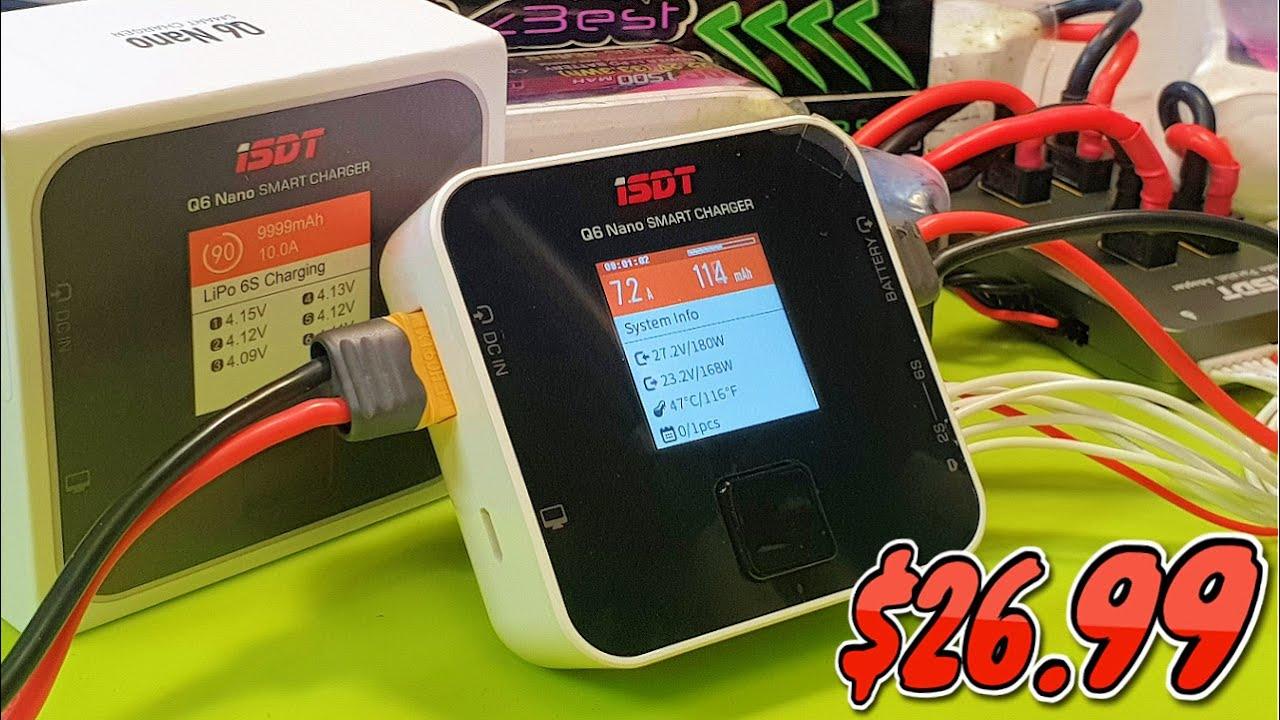 ✅  Бюджетное Зарядное Устройство ISDT Q6 Nano BattGo 200W 8A 1-6S Lipo Battery Charger! $26.99! 🔥
