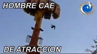 HOMBRE CAE DE ATRACCION EN PARQUE DE DIVERSIONES thumbnail