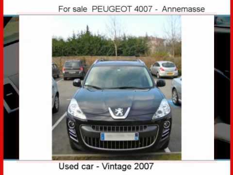 sale one peugeot 4007 annemasse haute savoie youtube. Black Bedroom Furniture Sets. Home Design Ideas