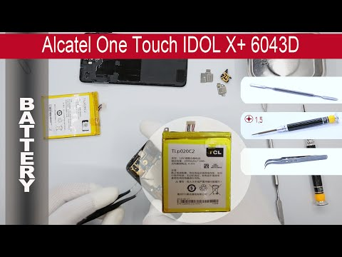 How to replace 🔧 🔋 📱 Battery Alcatel Idol X 6040D (TCL S950)