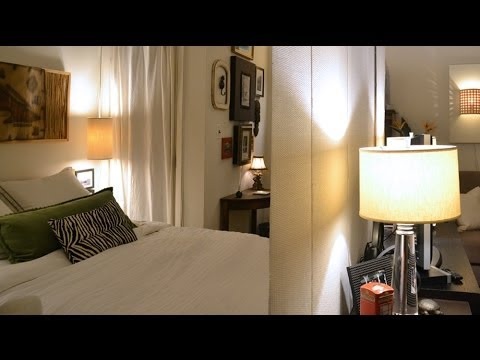 Small space living my nyc studio apartment youtube - Decorate a small apartment ...