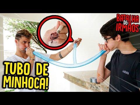 BATALHA DE IRMÃOS: DESAFIO TUBO DE MINHOCA!! ( DEU RUIM ) [ REZENDE EVIL ]