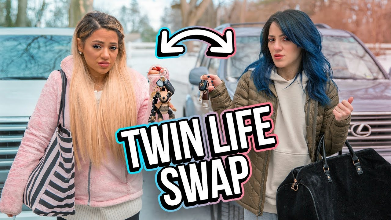 Christmas Sister Swap.Opposite Twins Swap Lives For A Day