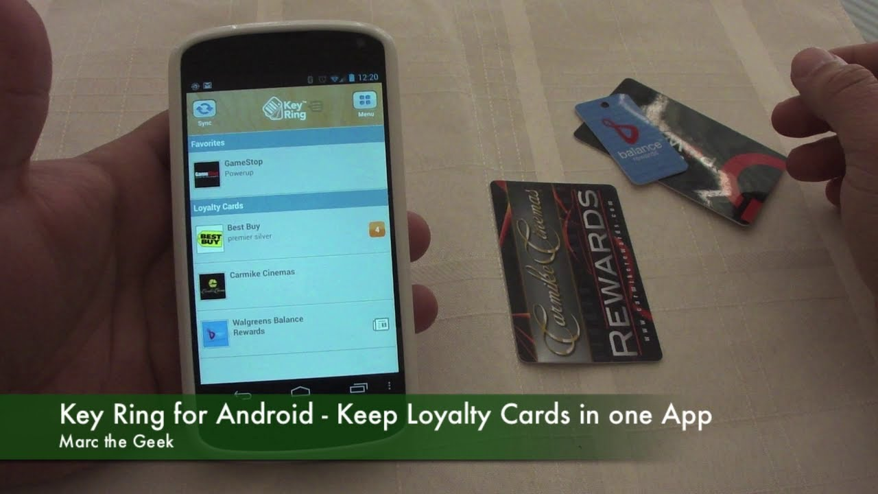 Key Ring for Android - Keep Loyalty Cards in One App - YouTube