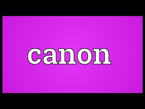 Canon Meaning