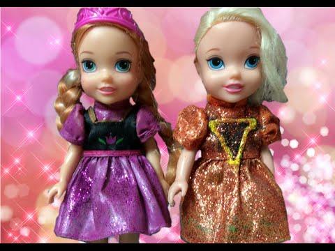 Anna and Elsa Toddlers Santa Photo Adventure Dolls New Sparkling Dresses Fun Frozen Christmas Toys