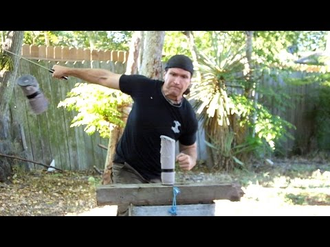 Lonely Wolf Forge Long Seax Package Opening and Basic Cutting Tests!