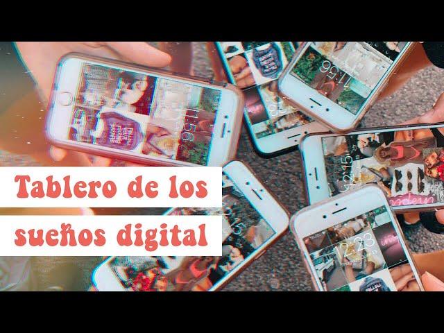 crea tu propio tablero de los sueños digital (celular o computadora) // 📲