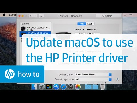 how to update printer driver on mac