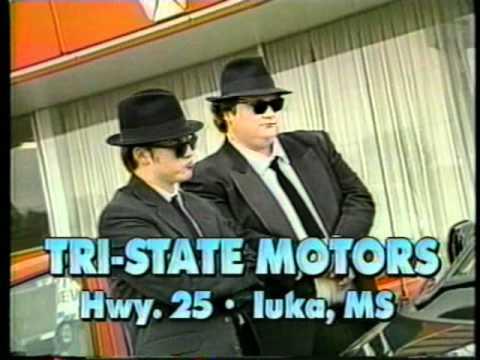 """Alex Newborn as """"Elwood Blues"""" for Tri-State Motors"""