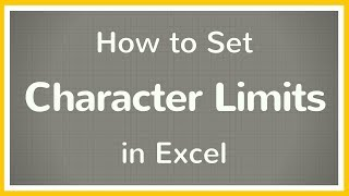 How to Set Character Limit in Excel - Tutorial