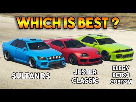 GTA 5 ONLINE : JESTER CLASSIC VS SULTAN RS VS ELEGY RETRO CUSTOM (WHICH IS BEST?)