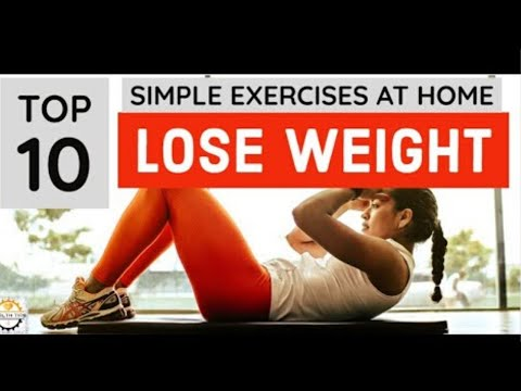 Lose Weight | 10 Simple Exercises To Lose Weight At Home | Health is Wealth