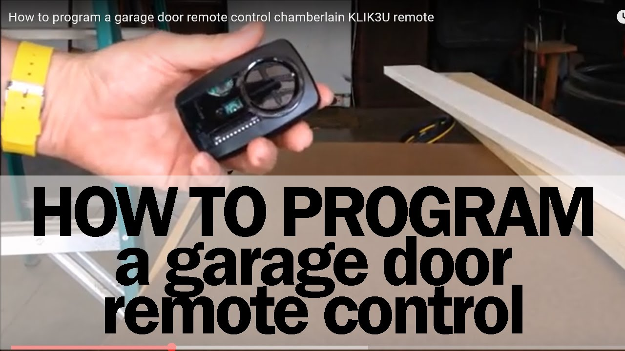 How to program a garage door remote control chamberlain klik3u how to program a garage door remote control chamberlain klik3u remote youtube rubansaba