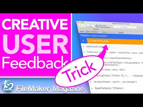 FileMaker Tutorial - Creative user feedback
