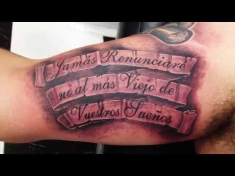 Amazing 3D Lettering Tattoo Design Ideas