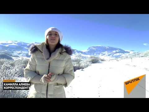 """Зимний курорт """"Шахдаг"""" в горах Азербайджана"""