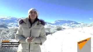 видео Зимний курорт