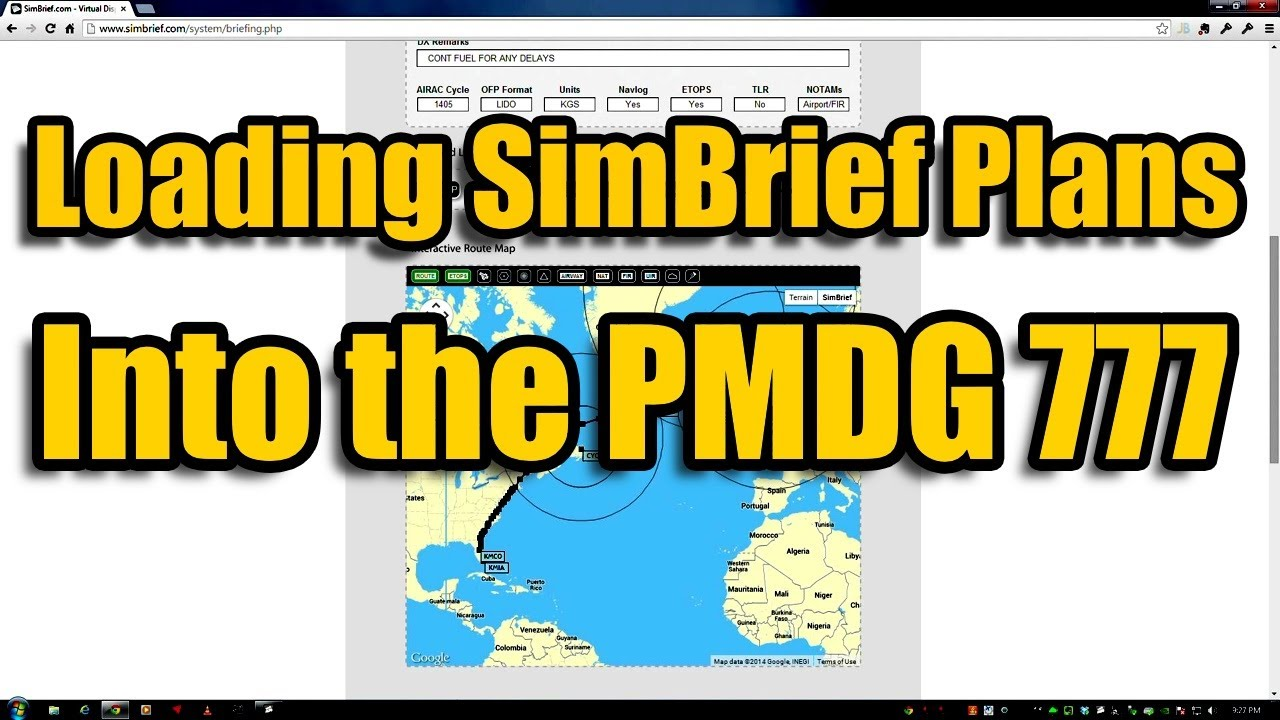 SIMBRIEF AND THE PMDG 777 IN FSX • KC Protrade Services Inc