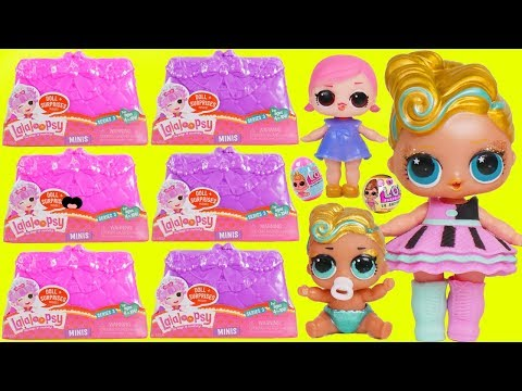 LOL Surprise Dolls Lil Luxe Gets Lalaloopsy Minis Series 3 Surprises Purse + Fake Vs Real LQL Doll!
