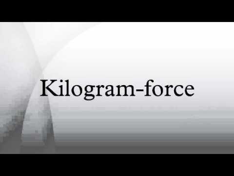 Kilogram-force