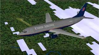 Microsoft Flight Simulator 98 | Seattle to San Francisco | United Airlines 737-300