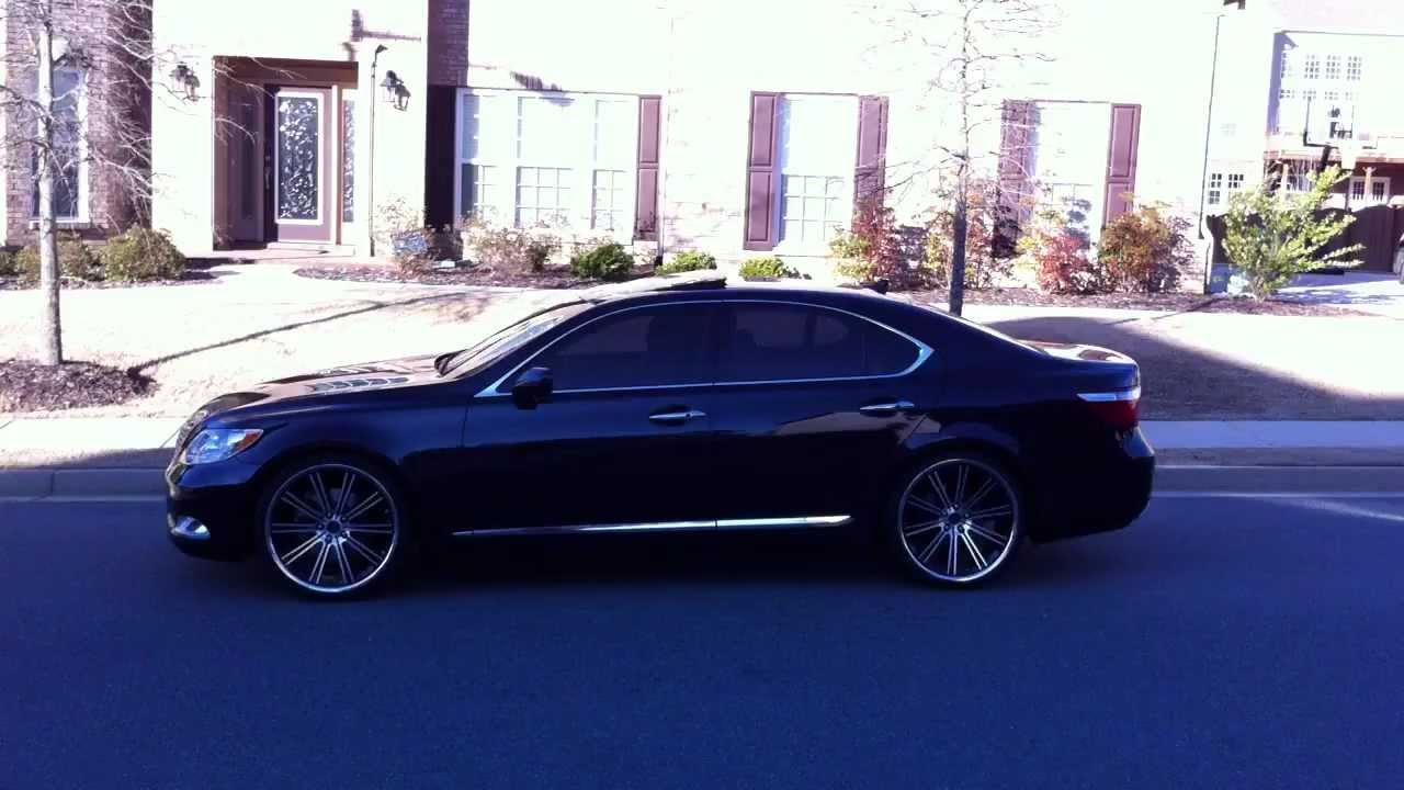 Lexus Ls460 On Savini Black Di Forza Bm 3 Staggered