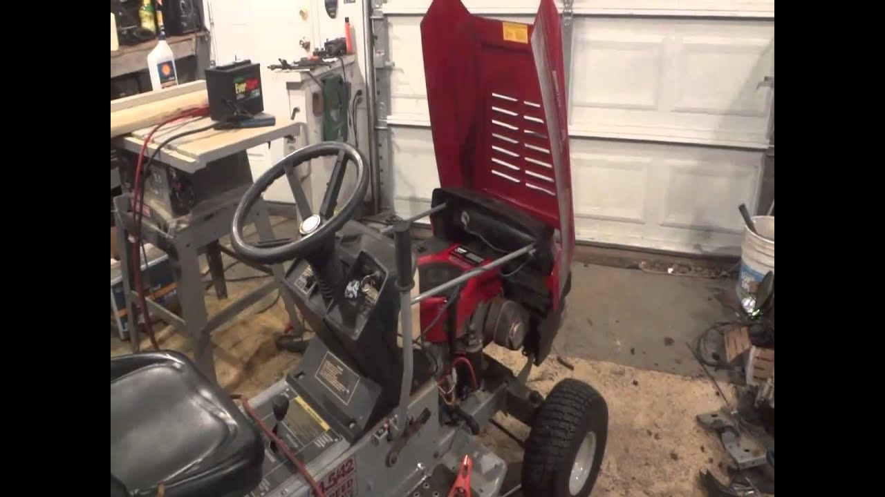 mtd lawn tractor motor swap and a new mtd yard - man tractor