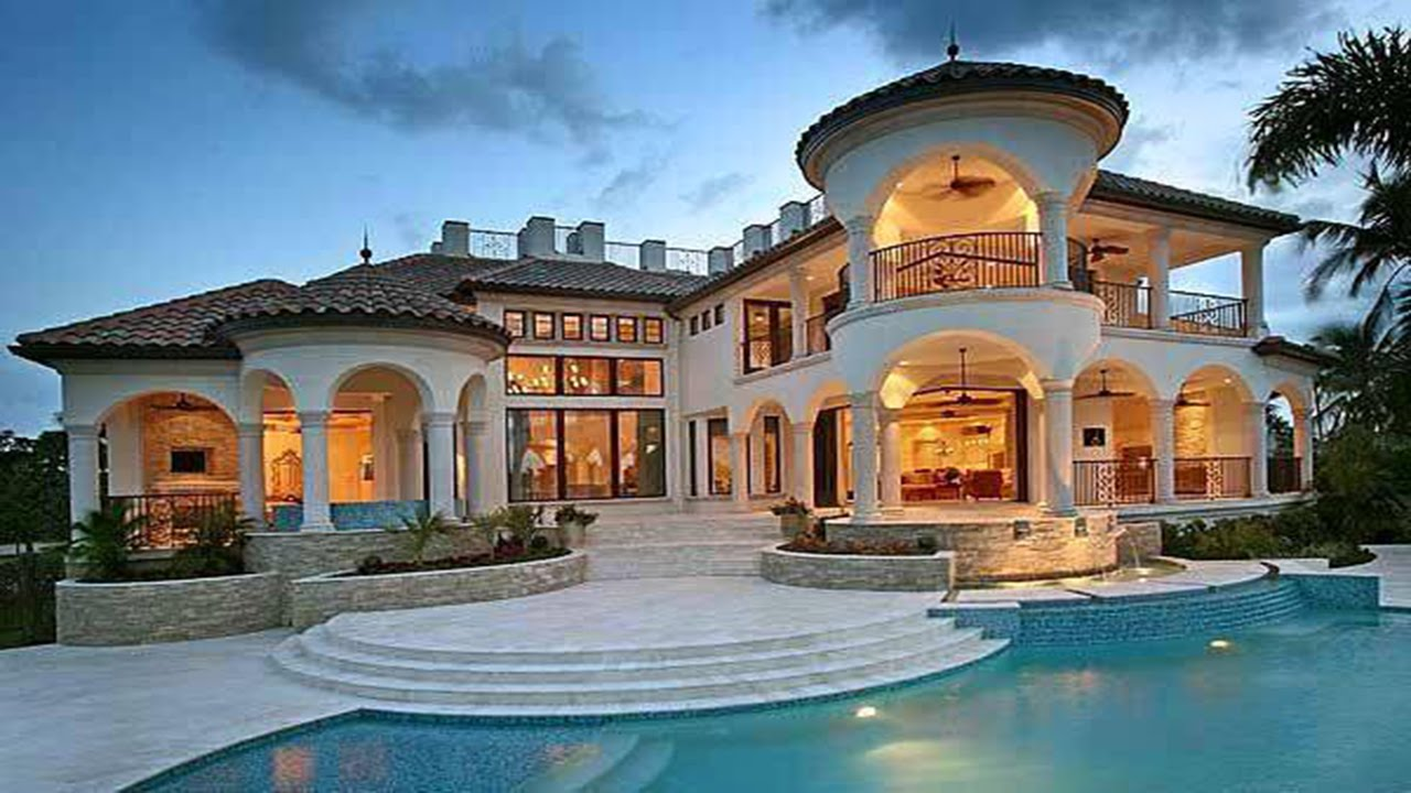 Breathtaking mediterranean mansion design youtube for Estate home plans designs