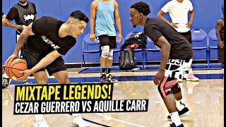 Aquille Carr vs Cezar Guerrero 1v1 King Of The Court!! MIXTAPE LEGENDS & YouTubers Go 1v1!!