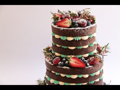 Two Tier Naked Cake Tutorial With Berries- Rosie's Dessert Spot