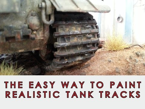 The easy way to paint realistic model tank tracks