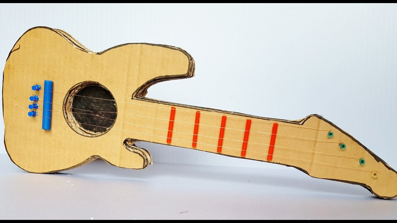 How To Make A Cardboard Guitar At Home Youtube