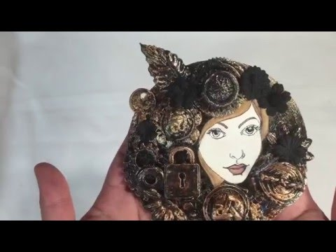 Steampunk Altered CD/Mixed Media Style
