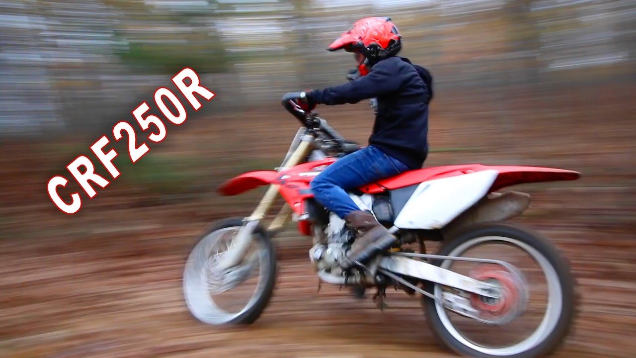 Dirt Bike Ripping Through The Woods Fast