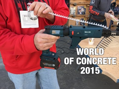 Bosch SGH182 18V Cordless Screw Gun - World Of Concrete 2015