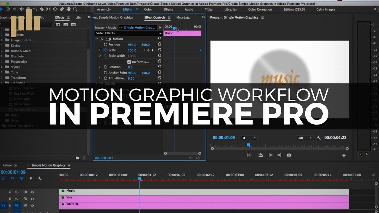 Create Simple Motion Graphics in Adobe Premiere Pro