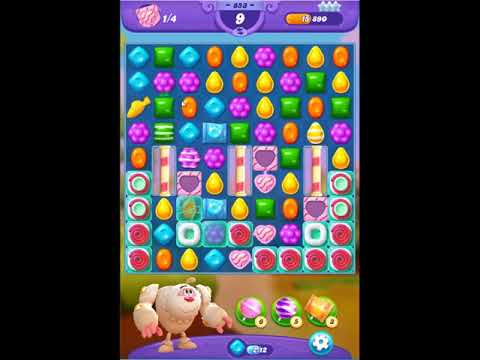 Candy Crush Friends Saga Level 853 - NO BOOSTERS 👩‍👧‍👦 | SKILLGAMING ✔️