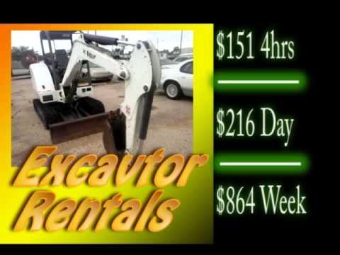 Bobcat Excavator Heavy Equipment Rentals In Killeen Texas Bellco Rentals