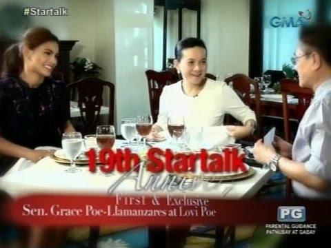 Startalk: Ang exclusive na panayam kina Sen. Grace Poe-Llamansares AT Lovi Poe!