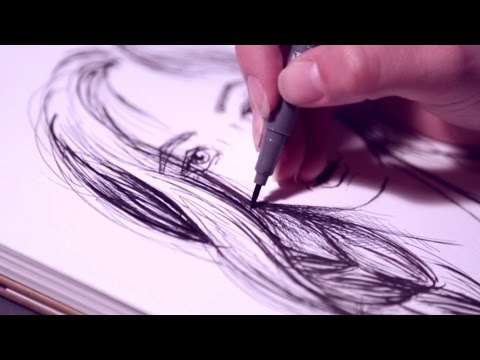 "Sketching tutorial ""face""- Graphix Fineliner by Marabu"