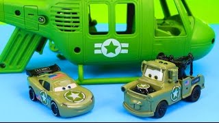 Disney Pixar Cars Army Lightning McQueen & Mater have their first mission save Gil Just4fun290 thumbnail