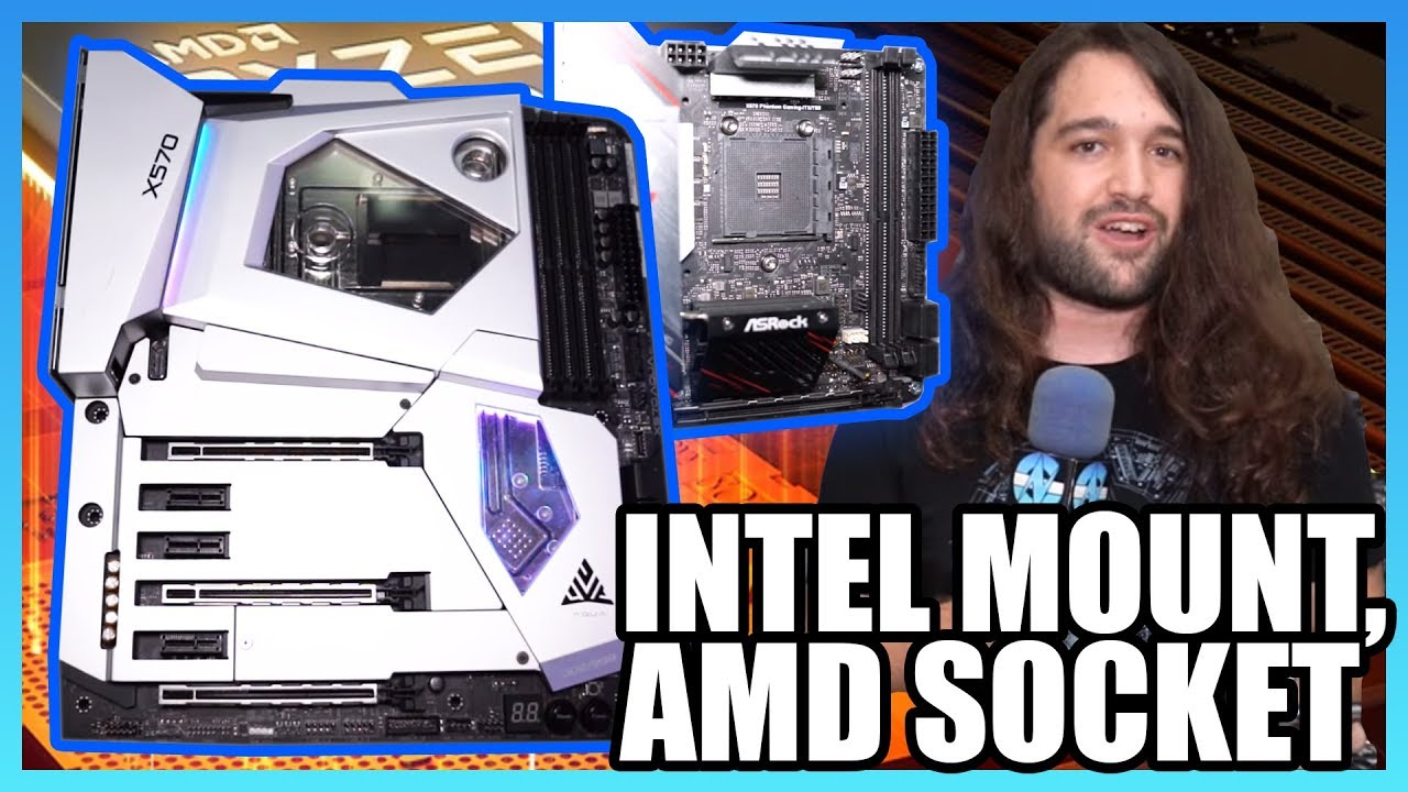 ASRock $1000 X570 Aqua Motherboard, Taichi, & Intel Mount for AMD