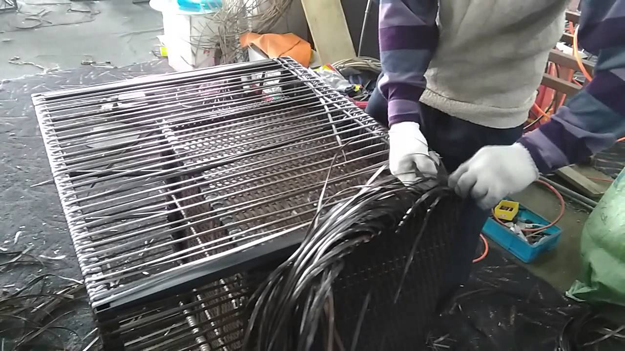 How to fix, weave and make rattan wicker furniture - YouTube
