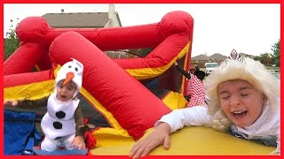 HALLOWEEN BOUNCE HOUSE COLLAPSE!!