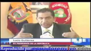 Lucio Gutierrez lo pone en su sitio a Correa y lo deja sin lengua
