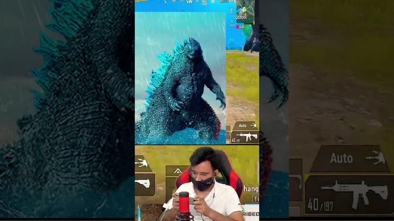 🤣 M Nikla Gadi Leke 😆 Godzilla Per Rakh Diya BC😂 #pubgmobileshorts #short #shorts