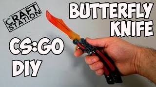 How to make Butterfly knife from CS:GO  with templates