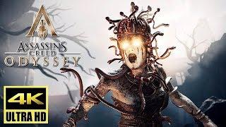 [4K] Assassin's Creed Odyssey - MEDUSA Boss Fight Gameplay @ UHD ✔
